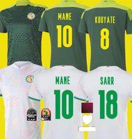 2021 2022 Senegal Mane Soccer Jersey National Team Home White Away Diatta 21 22 Koulibaly Mendy Sarr Niang Uniformi di calcio Camicie Thailan