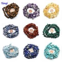 Autres perles de pierres naturelles de 5-8mm Turquoise Eye Tiger Eye Amethystes Chips pour bijoux Fabrication Bracelet de gravier irrégulier 16 pouces