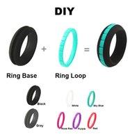 Комбинированные мужские спортивные ювелирные изделия йоги crossfit гибкие силиконовые кольца женщины резиновые пальцы свадебные полосы 10 цветов RN37 полоса