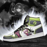 DIY Anime Fan Sneakers Shinoa-Hiragi Kvinnor Basketskor Jumpman 1 Modell Custom Trainers Casual Shoe