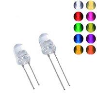 가벼운 구슬 10pcs 5mm / f5 라운드 울트라 밝은 LED 방출 다이오드 물 클리어 램프 9 색 RGB 노란색 파란색 녹색 전구 DIY 조명