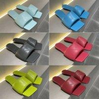 2021 Женская кожа Классические Nappa Sandals Sundals Обувь Высокое Качество Дамы Красный Черный Летний Пляжный Дизайнер Платформа Платформа Платформа Тапочки Outd S1B6 #