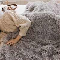 Blankets Shaggy Fuzzy Fur Winter Warm Blanket Office Fluffy Rest Manta Sofa Couch Bedding Cover Bedsheet Student Home Bedspread