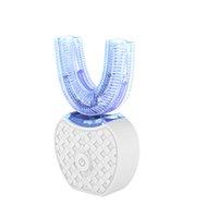 V-White 360 지능형 자동 소닉 전동 칫솔 U 형 USB 충전식 구강 치아 실리콘 브러시 헤드 1 PC 헤드