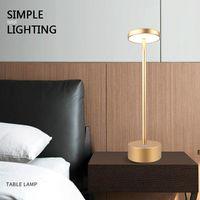 Home Nacht LED Small Tischlampe Student Augenschutz Schreibtisch USB Ladeatmosphäre Nachtlicht Wasserdicht DHA5235