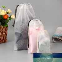 3PCS PVC Clear Drawstring Travel Bags Toiletry Towel Cosmetic Make Up Bag Organizer Set Pouch Case Women Cloth Underwear Bag Factory price expert design Quality