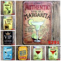 Panneau en métal peinture de fer Cocktail peinture de bière peintures vintage artisanat Accueil Decoration Pub Pub Signes Sticker Art Sticker NHE9436