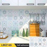 Self Adhesive Bohemia Vinyl Wallpaper Walls for Bathroom Kitchen Flooring Wall Decor Waterproof Peel and Stick Contact Paper