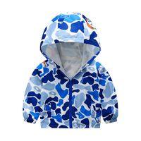 Jackets 2021 Cartoon Printed Hooded Sweatshirt Baby Boy Toddler Girls Clothes Coat Zipper Winter Jacket Children's Outdoor