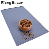 Silicone Pet Mat For Cat Pad Bowl Drinking Dog Feeding Placemat Easy Washing Beds & Furniture