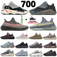 2021 Kanye 700 Ash Blue Pearl Stone running shoes Static Van...