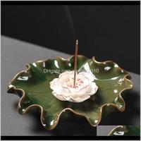 Parfüm Lambaları Kokular Dekoru Ev Bahçe Bırak Teslimat 2021 İşlevli Koltuk Lotus Tütsü El Sanatları Mini Çiçekler Yaratıcı Brülör Decora