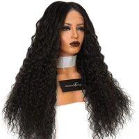 Синтетические парики Fanxion kinky Кудрявый парик черный цвет кружева высокая температура с естественной частью для женщин
