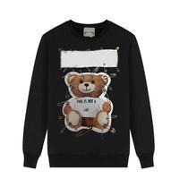Luxurys männer frauen hoodies mode designer kleidung reguläre jumper sweatshirt pullover herbst langarm herren kleidung muster bär gedruckt pullover casual top