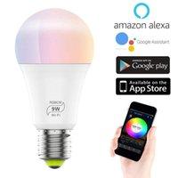 Smart Home Control 9W E27 LED Glühbirne Wifi RGB Ändern Farbwechsel Intelligenten Modulen Lampe App Remote Voice für Alexa Google