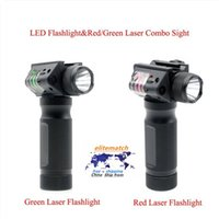 Tactical Vertical Fore Grip CREE LED Hunting Flashlight with Integrated Red Dot Laser Sight For Rifle