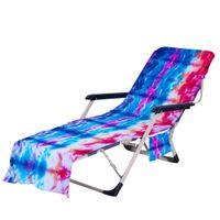 넥타이 염료 해변 의자 덮개와 함께 티켓 charise 라운지 수건 태양 lounger 수영장 counbathing garden ood5811
