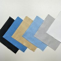 100 unids Buckskin Silver Joyas Limpieza Paño de pulido Tela Esterlina Limpiador de oro 8x8cm más barato Lado doble Herramienta Negro Blanco Azul 55 W2