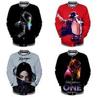 패션 야구 자켓 코트 마이클 잭슨 댄스 프린트 패션 남성 여성 까마귀 스웨터 긴 소매 3D 후드 재킷 탑 4XL
