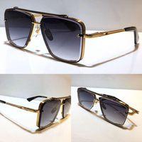남자 모델 M 6 선글라스 금속 빈티지 패션 스타일 선글라스 광장 프레임리스 UV 400 렌즈 패키지 고전 A47