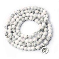 Натуральный белый сосновый браслет йога ручная струна Lotus Magnesia руда буддийские украшения