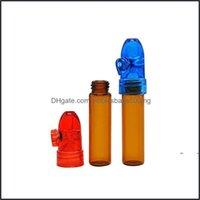 Storage Housekee Organization Home & Gardenstorage Bottles Jars Box Snuffer 67Mm82Mm Height Acrylic Glass Rocket Bottle Snuff Snorter Sniffe