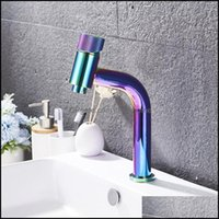 Faucets, Showers As Home & Gardesin Faucet Modern Black Bathroom Mixer Tap Brushed Gold Nickel Chrome Wash And Cold Sink Faucets Drop Delive