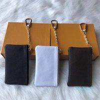 Designer- moda moeda bolsa homens mulheres senhora couro bolsa de moeda carteira chave mini carteira