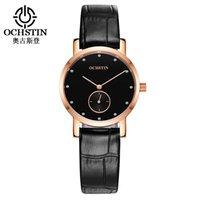 Men Watch Top OCHSTIN Fashion Clock Women Watches Genuine Leather Strap Waterproof Quartz Wristwatches