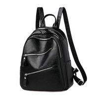 Backpack 2021 Luxury Shoulder Summer Bag Men And Women Korean PU Leather Designer Fashion Black Schoolbag