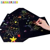 20 adet Sihirli Gökkuşağı Çizim Çizim Kağıt DIY Beraberlik Kurulu Çocuklar Sanat Kiti Oyuncak Boyama Sayfaları Kitaplar Çocuklar Için Bebek Boyama Doodle Q0313