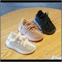 Kids Sport Baby Boys High Qaulity Toddler Sneakers Rhinestones Girls Glitter Girl Shoes Boy Running Sneaker Skoqc Soelp