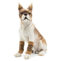 Dog Apparel 4pcs Set Socks Warm Shoes Protect Knee Pads Cute Knit Cotton For Small And Large Dogs Autumn Winter Wear
