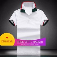 2021 Fashion Mens polo T Shirts Snake Embroidery Polos Bee Stripe Men High Street Casual Horse Tees Tops Shirt Size M-XXXL W32 play