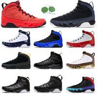 9s tênis de basquete para homens Gym Red Racer azul UNC homens Bred Citrus 9 Oreo formadores Sports Sneakers 7-13 atacado