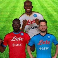 21 22 Napoli Soccer Jersey Maradona Maglietta da Calciatore Osimhen Insigne 2021 2022 SSC Nápoles Kits Maglia Mertens Hombres niños Camisa de fútbol