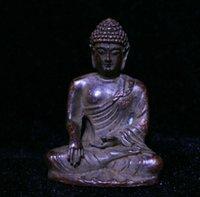 Old Tibet Buddhism Bronze Rame Seat Lotus Shakyamuni Amitabha Buddha Statua