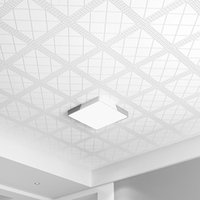 Wallpapers European Ceiling Wallpaper House Roof Decoration White Square Grid 3d Embossed Wall Papers Home Decor Murals GM030