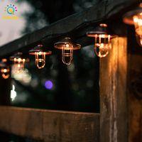 String Lights Moroccan Wrought Iron Solar Powered Fairy LED Light Outdoor Garden Yard Art Landscape Lighting Party Wedding Decoration