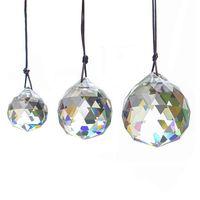 30mm de cristal bola prismas pingente facetado cristal vidro prismas lâmpada de teto iluminação pendurado candelabro gota gotas decoração de casamento NHF6410