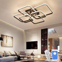 Square circel rings candelabro para sala de estar quarto home ac85-265v moderno lâmpada de teto lâmpada de teto lustres candelabros