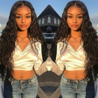 Lace Frontal Wig 26 Inch Water Wave 13x4 Lace Front Wig Human Hair Wigs Deep Curly Glueless Virgin Brazilian 180% Density