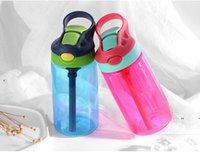 جديد 17 أوقية سيبي كوب واضح زجاجة مياه الاطفال بهلوان البلاستيك 480ML زجاجات التمريض ل طفل 4 ألوان BPA مجانا بواسطة صريح EWD7628