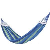 넓은 두꺼운 캔버스 해먹 휴대용 해먹 야외 여행 캠핑 가든 스윙 매달려 의자 행 매트 스틱