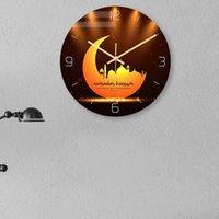 Wall Clocks Eid Mubarak Pattern Clock Home Decoration Muslim Elements Ramadan Living Room Hanging Art Decor