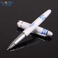 Ballpoint Pens High Quality Metal Roller Ball Pen Luxury Fountain Brand Stationery Custom Logo Weeding Gift Drop P804