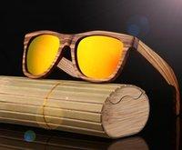 الجملة الرجال الخشب النظارات النساء الرجعية خمر الاستقطاب زيبرا نظارات خشبية الخيزران مربع كبير DFF0549