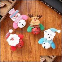 Decorações de Natal Festivo Suprimentos Home Gardenchristmas Boneca Pingente Papai Noel Pingentes de Desenhos Animados Boneco De Neve Pequeno Urso Elk Dolls com B