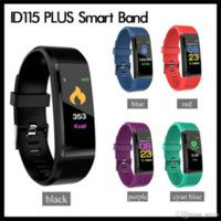 ID115 Plus Smart Wristbands Bracelet Fitness Tracker Watch Heart Rate Watchband Band For Apple Android Cellphones with Retail Box