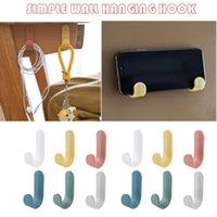 Hooks & Rails 12 Pcs Adhesive Towel Racks Wall For Kitchen Bathroom Self-adhesive Hook Clothes Hooks, Seamless #tp